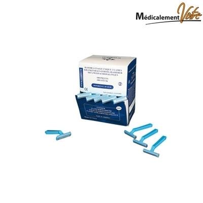 Curettes / Punch / Rasoir  Rasoirs chirurgicaux 2 lames COMED - Usage unique - Boite x 100
