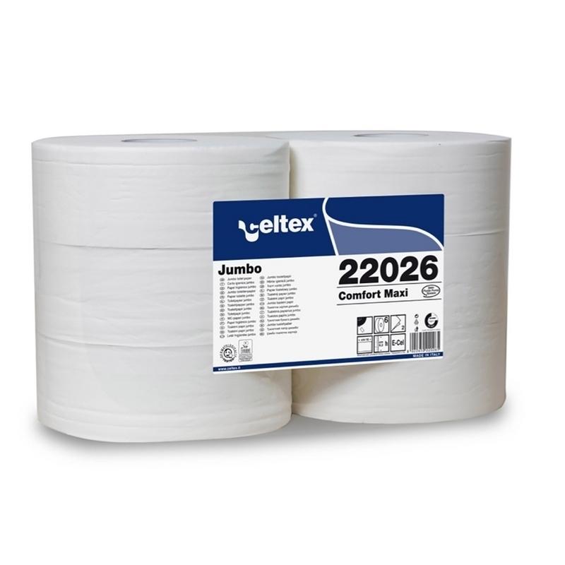 Papier toilette & Hygiénique Papier hygiénique Maxi Jumbo - Celtex 22026 - Ballot de 6 rouleaux