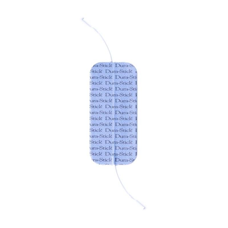 Electrodes Électrodes rectangles à fil 50 x 100 mm - Double sortie -Dura Stick Plus Cefar Compex - Paquet de 2 - Référence 42200