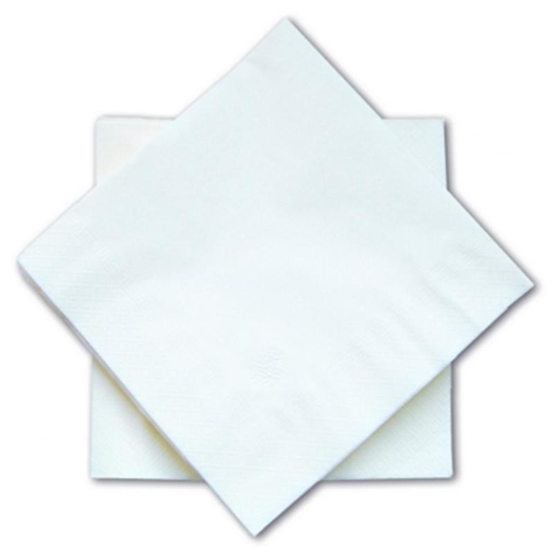 Serviettes Serviettes blanches 3 plis - 33 x 33 - Carton de 1000