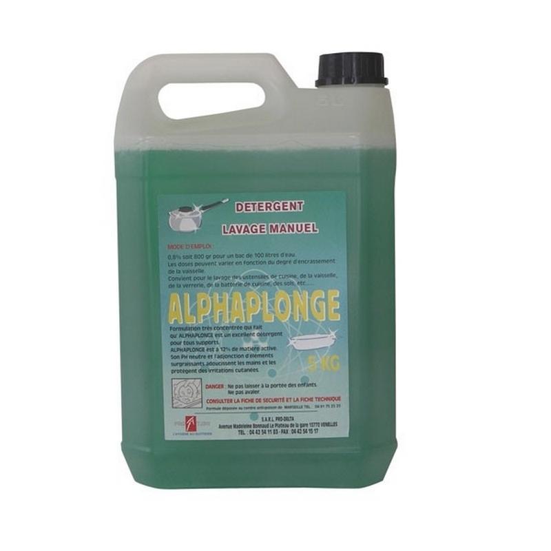 Produits d'entretien Liquide vaisselle Alphaplonge - Détergent - Bidon de 5 litres