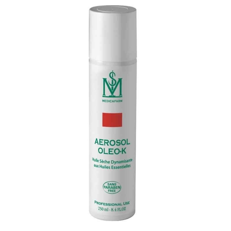 Huile de massage Huile sèche dynamisante Oleo K - Aux Huiles essentielles - Medicafarm - Aérosol 250 ml