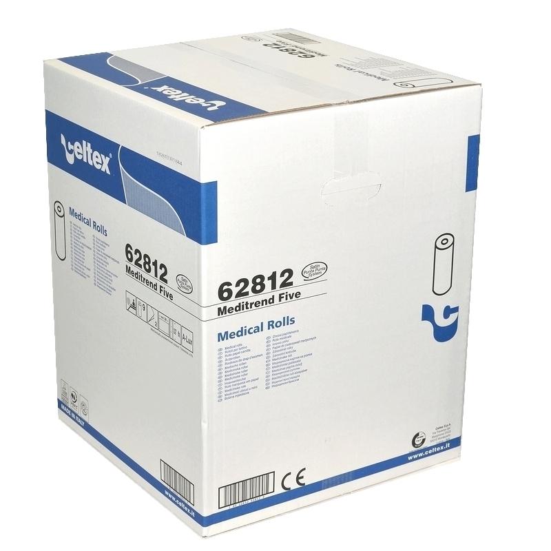 Draps d'examen classiques Draps d'examen luxe Celtex 62812 - Gaufré collé - 120 formats 38 x 50 - Carton de 9 Rouleaux