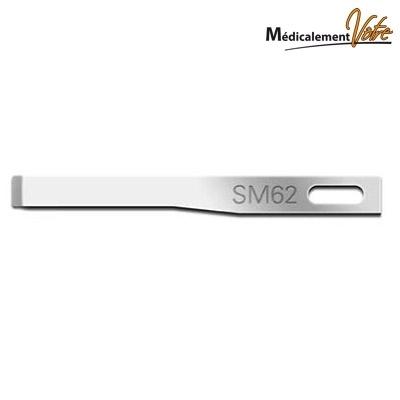 Lames Burins / Crédo Lame fine burin n°62 - Swann Morton - Simple ou double biseau - boite x 25