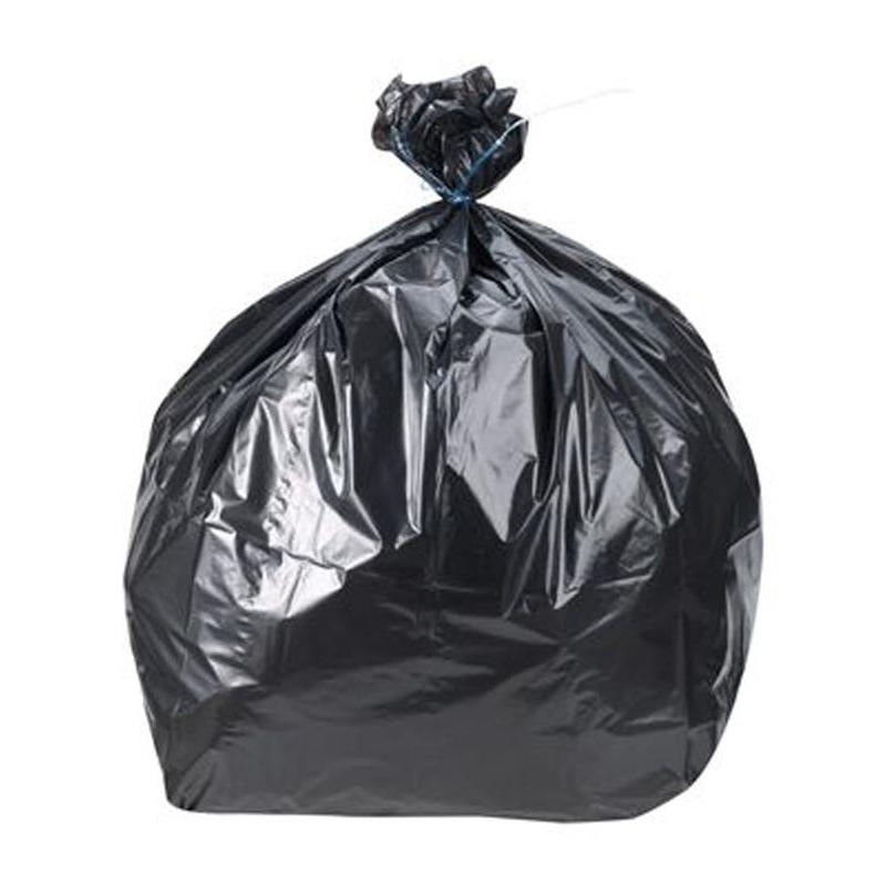Sac poubelle noir 50 litres - Rouleau de 10