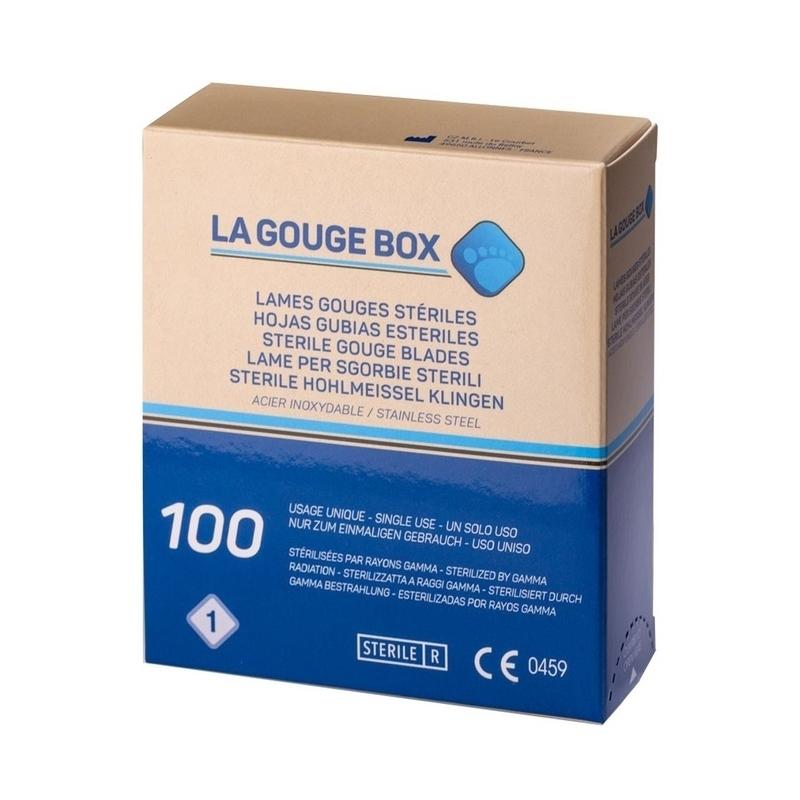 Toutes les promotions Lames de gouges La Gouge Box - Stériles - Boite de 100 - N° 1 ou N° 2