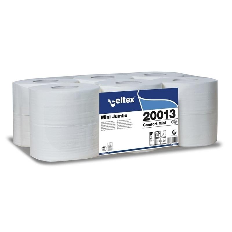 Papier toilette & Hygiénique Papier hygiénique Mini Jumbo - Celtex 20013 - Ballot de 12 rouleaux