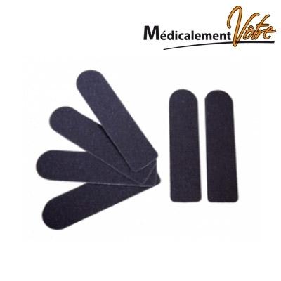 Pinces à ongles / Râpes Abrasifs autocollants rape inox - Grain standard - Sachet x 50