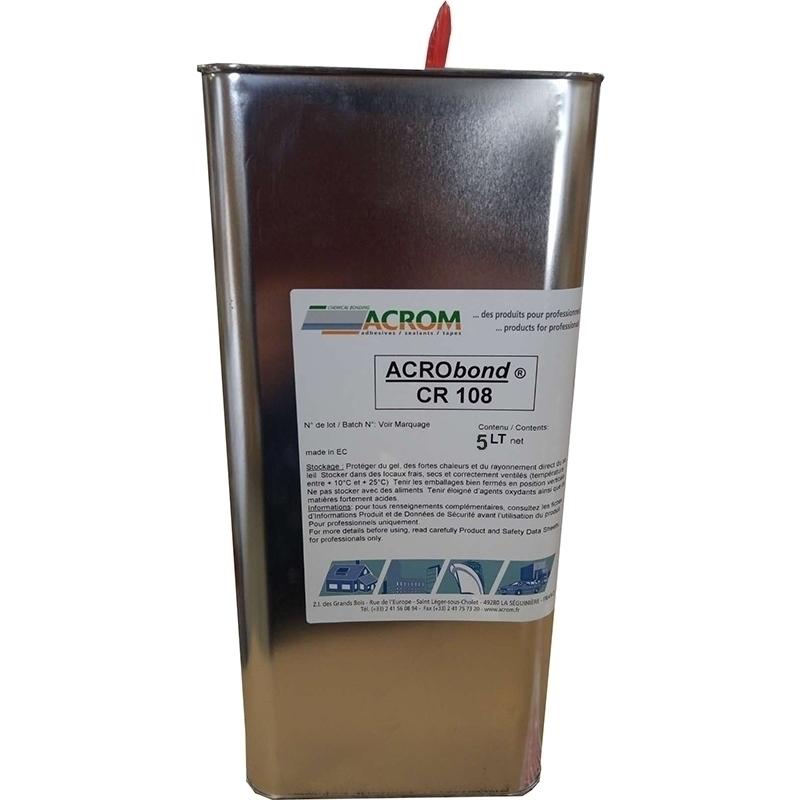 Colles et accessoires Colle Acrobond CR 108 - Sans toluène - Bidon 5 litres