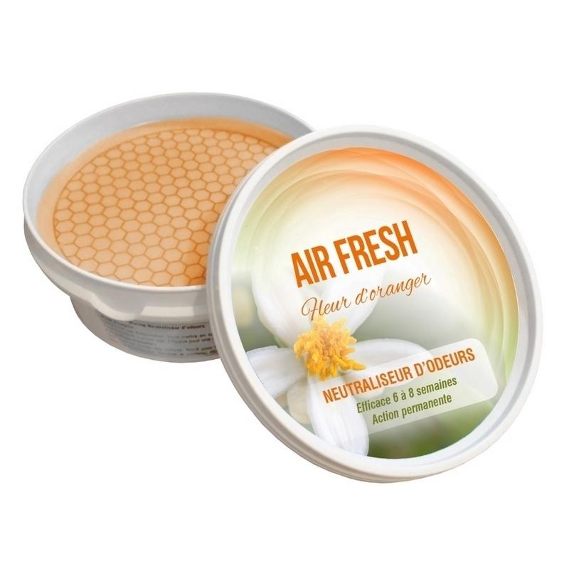 Traitement air et odeur Air Fresh - Parfum Fleur d'Oranger - Neutraliseur d'odeurs - Pot de 250 gr