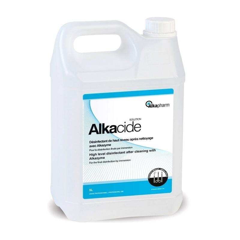 Désinfection du matériel Alkacide Solution - Désinfectant total à froid - Dispositifs médicaux - Bidon de 5 litres