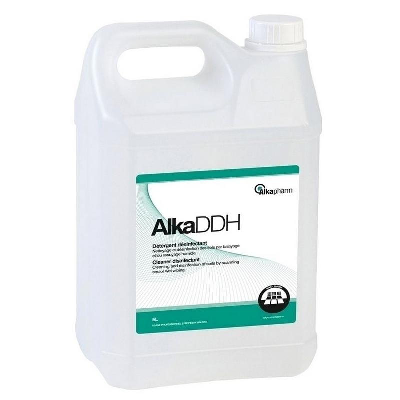 Sols et surfaces AlkaDDH - Détergent désinfectant sols & surfaces - Sans rinçage - Bidon de 5 litres
