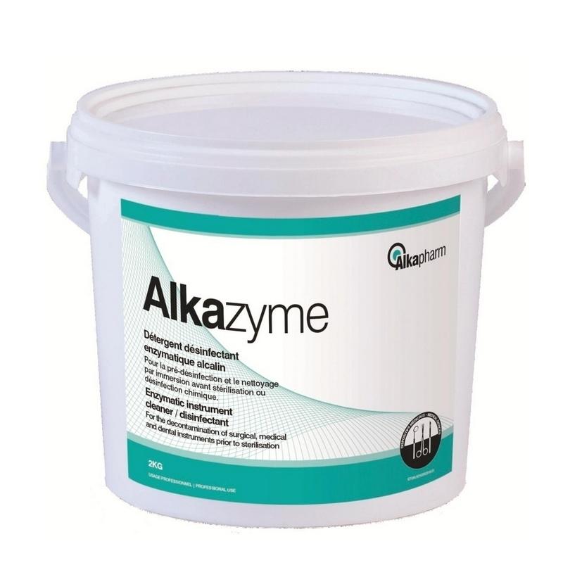 Désinfection du matériel Alkazyme - Détergent désinfectant poudre - Dispositifs médicaux - Seau de 2 kg