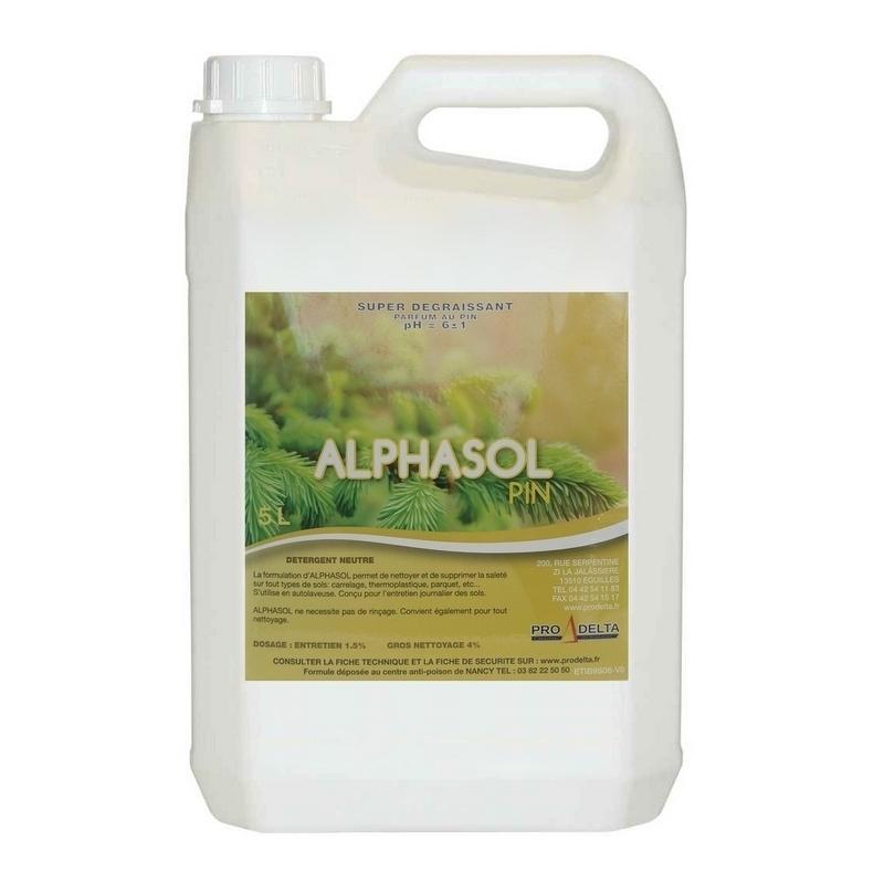 Sols et surfaces Détergent Alphasol - Parfum Pin - Bidon de 5 litres