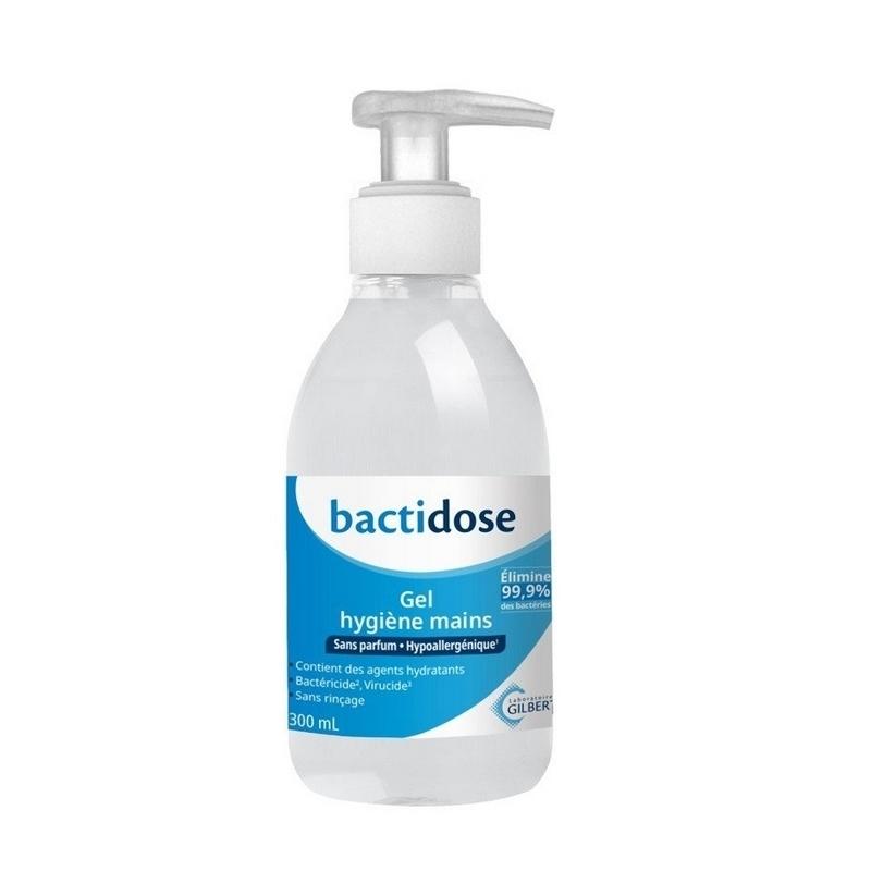 Gels hydroalcooliques  Gel hydroalcoolique Bactidose - Laboratoires Gilbert - Flacon de 300 ml