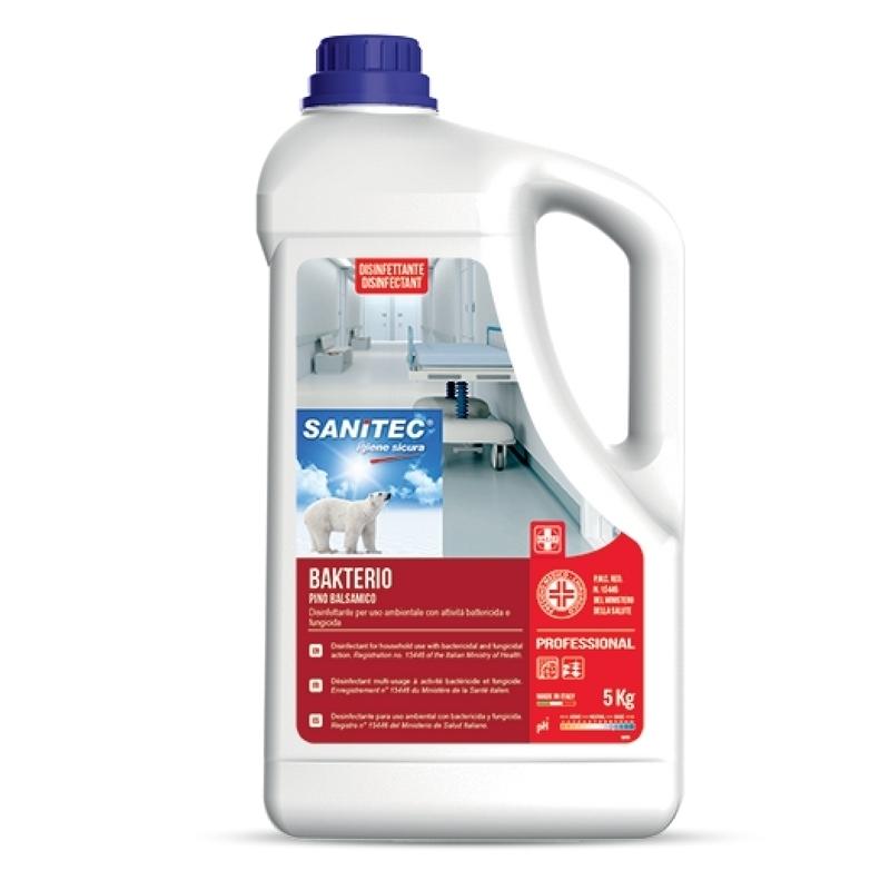 Désinfection du matériel Bakterio Pin Balsamique - Désinfectant multi usages - Bidon de 5 litres