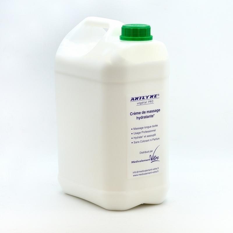 Crèmes & Huiles Anilyne Végétale Pro - Crème neutre de massage - Bidon 5 litres + pompe