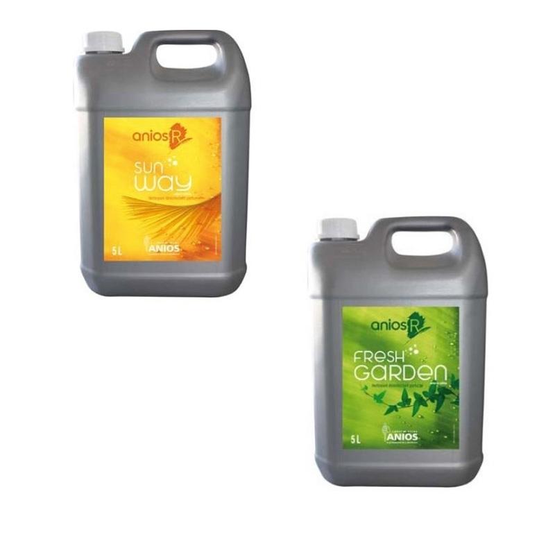 Sols et surfaces Nettoyant sols / surfaces Anios R - Fresh Garden ou Sun Way - Bidon 5 L
