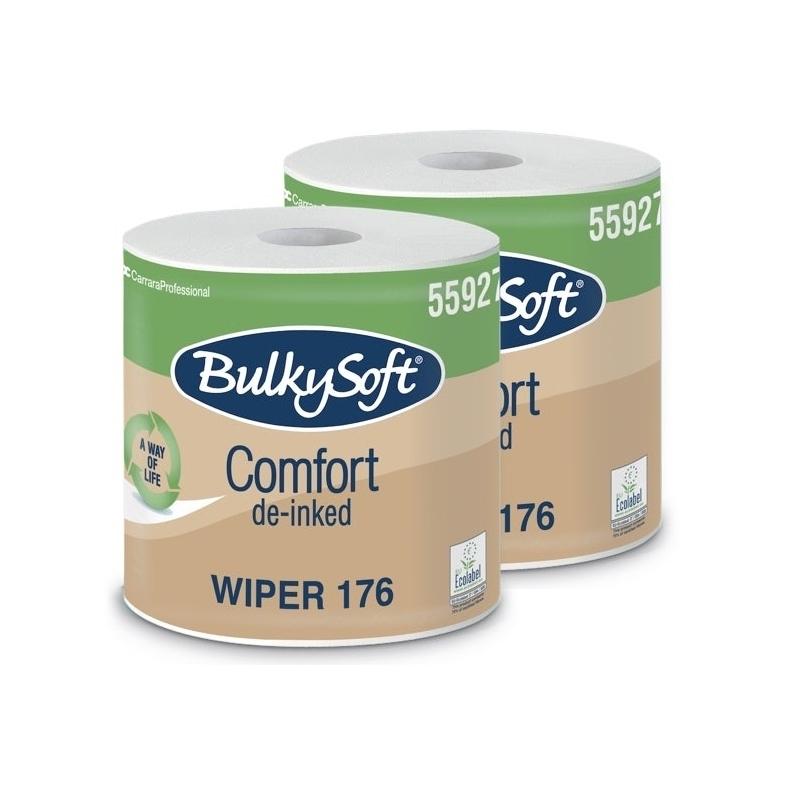Essuie-mains & Essuie-tout Bobines industrielles - 800 feuilles gaufrées - Comfort Wiper 176 Bulkysoft - Ballot de 2 rouleaux
