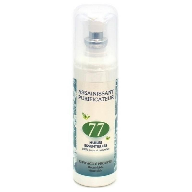 Traitement air et odeur Assainissant purificateur 77 - Aux huiles essentielles - Bactéricide - Spray de 125 ml
