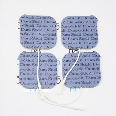 Électrodes carrées à fil 50 x 50 mm - Dura Stick Plus Cefar Compex - Paquet de 4 - Référence 42198