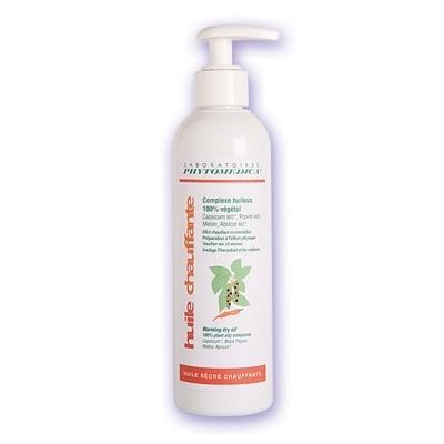 Crèmes & Huiles Huile sèche Chauffante - Phytomédica - 100% végétale - Flacon de 250 ml