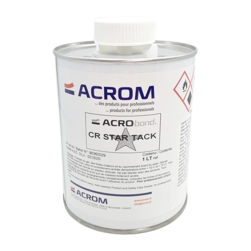 Colles & Accessoires Colle Acrobond CR Star Tack - Acrom - Bouchon pinceau - Bidon 1 litre