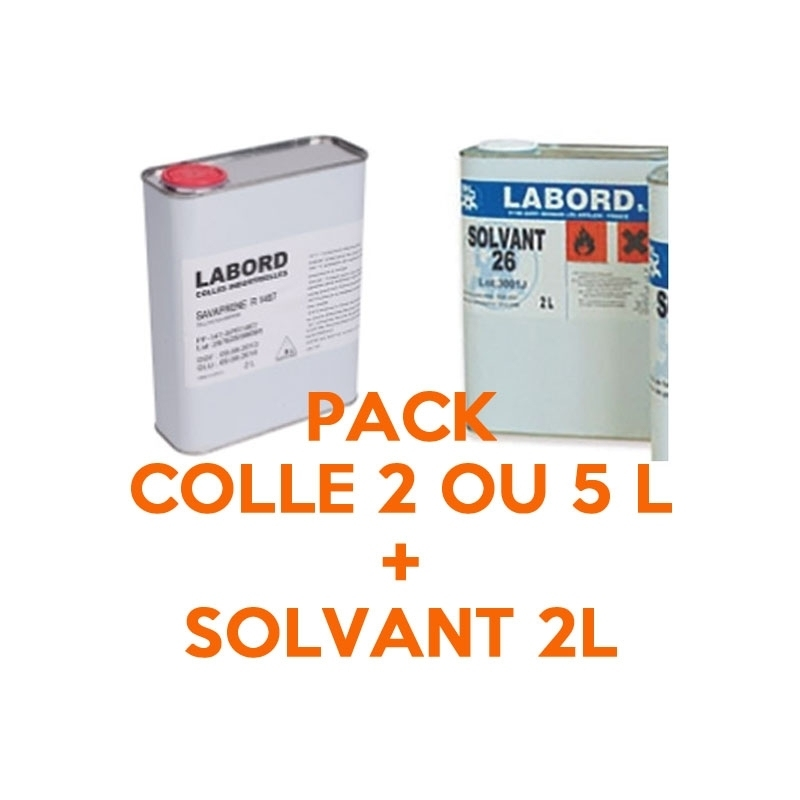 Toutes les promotions Pack Podo - Colle 2 ou 5 L + Solvant 2 L - Labord