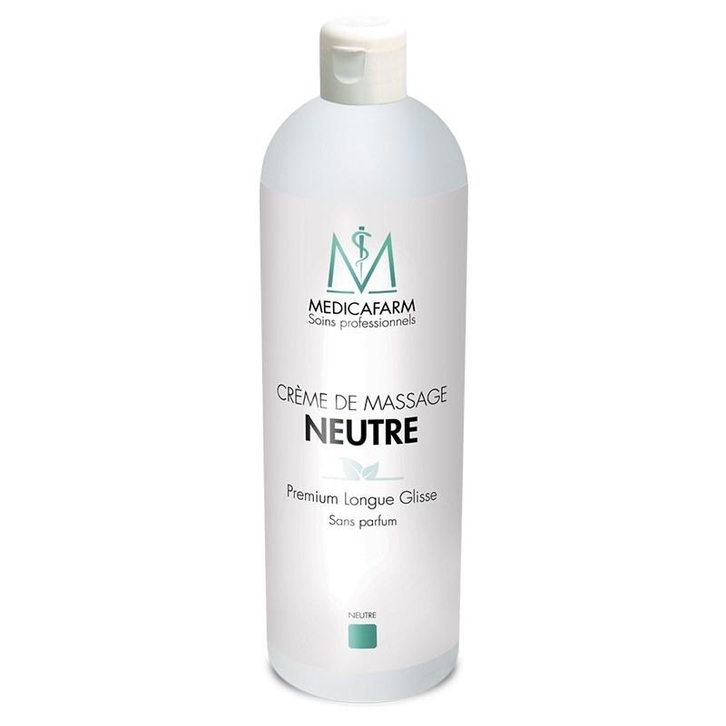 Crèmes & Huiles Crème de massage neutre - Premium Longue Glisse - Medicafarm - Flacon de 1 litre