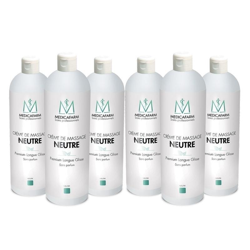 Crèmes & Huiles  Crème de massage neutre - Premium Longue Glisse - Medicafarm - Carton 6 x 1 litre