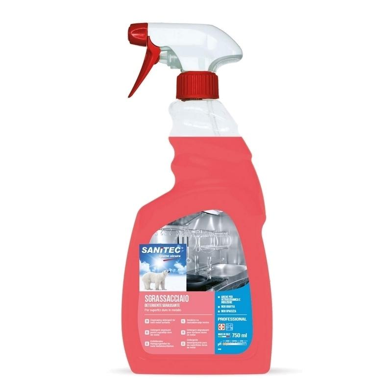 Sols et surfaces Détergent dégraissant Surfaces Inox - Sanitec - Flacon de 750 ml