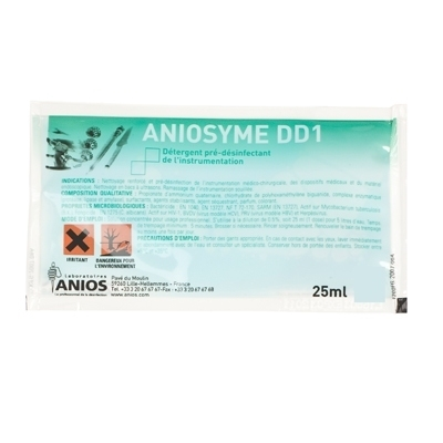 Désinfection du matériel Aniosyme DD1 Anios - Nettoyant et pré désinfectant - 50 doses de 25 ml