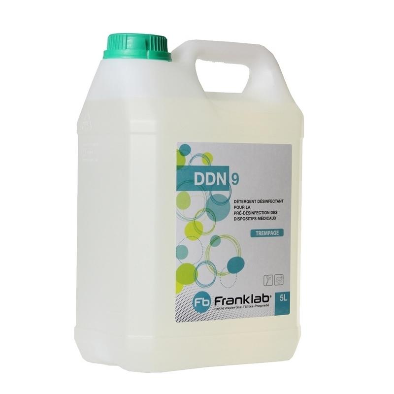 Détergent désinfectant DDN 9 - Pour dispositifs médicaux - Bidon de 5 litres