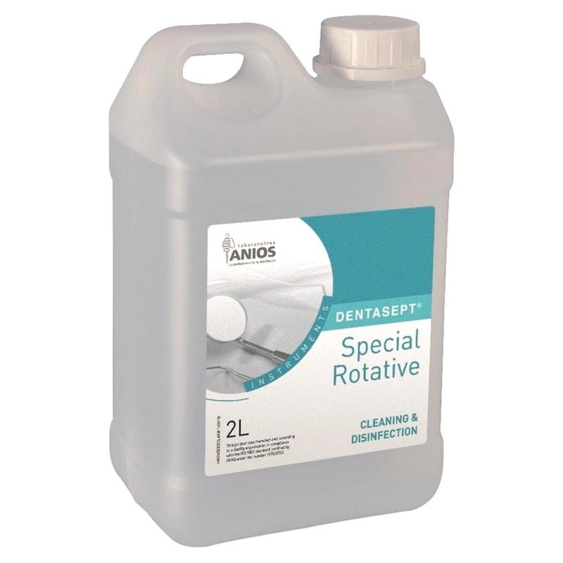 Désinfection du matériel Dentasept Anios - Désinfectant fraises - Bidon de 2 litres