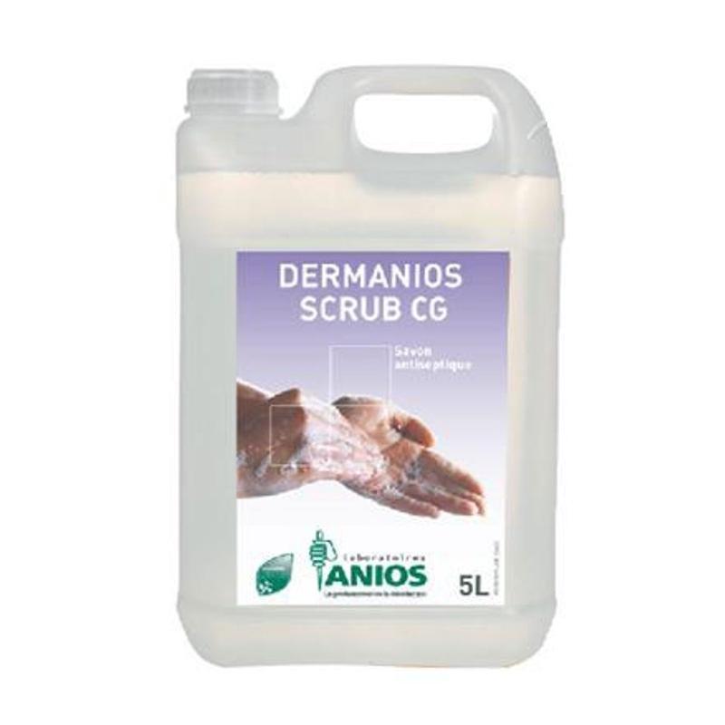 Savon mains Dermanios Scrub CG Anios - Savon antiseptique mains - Bidon de 5 litres