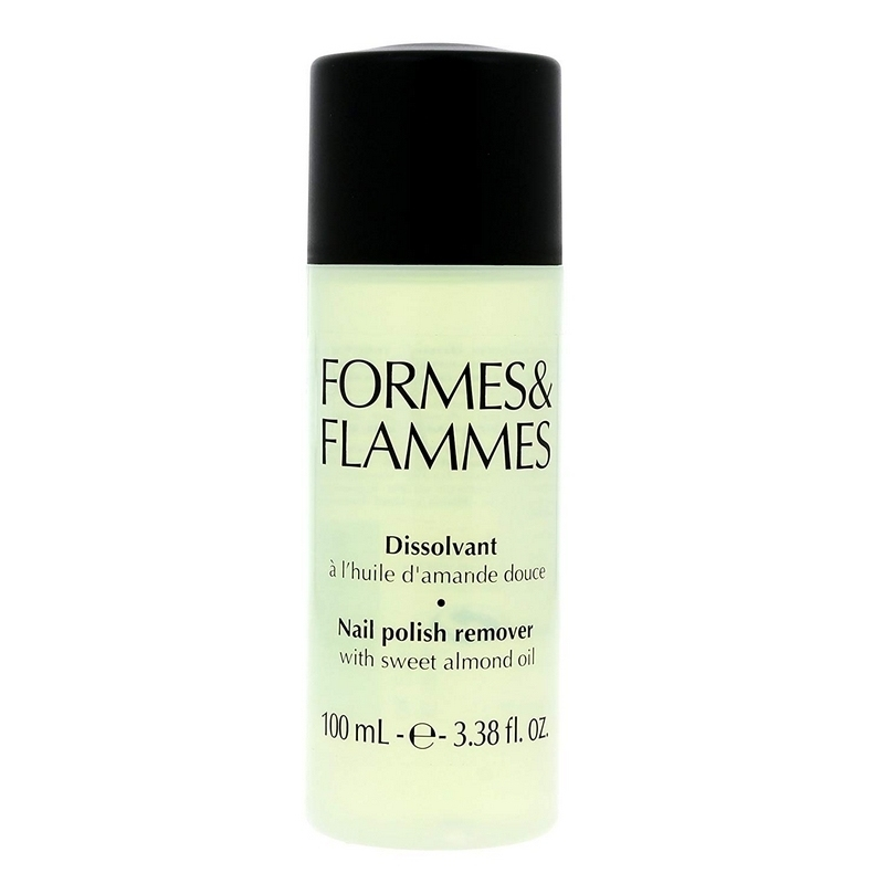 Consommables esthétique Dissolvant Formes & Flammes - Huile d'amande douce - Flacon 100 ml