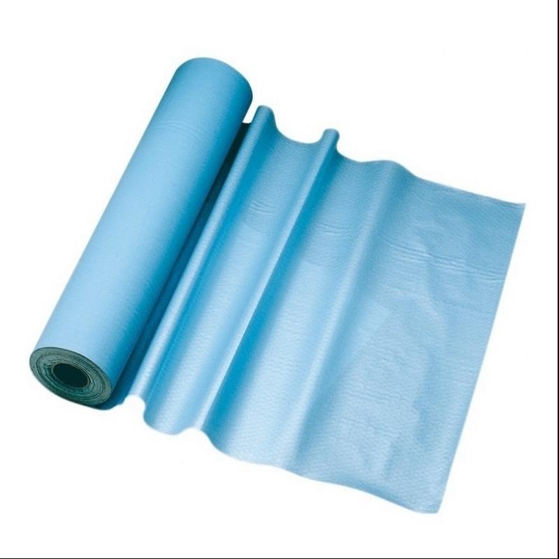 Toutes les promotions Drap d'examen plastifié bleu - 132 formats 50 x 38 - Rouleau unitaire