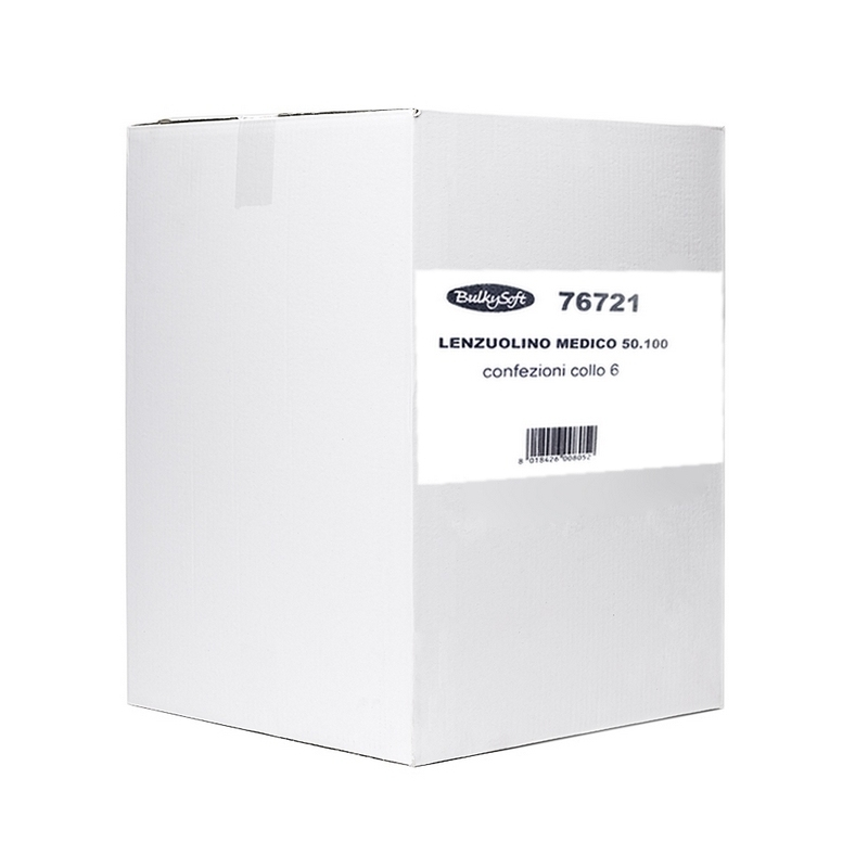 Draps d'examen classiques Draps d'examen lisses Compact - 270 formats 37 x 50 - BulkySoft 76721 - Carton de 6 rouleaux