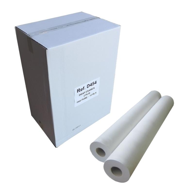 Draps d'examen formats spéciaux Draps d'examen lisses - 124 formats 60 x 37 - Vi&Di D454 - Carton de 12 rouleaux