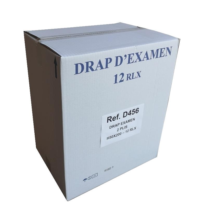 Draps d'examen formats spéciaux Draps d'examen lisses - Prédécoupe longue 200 x 50 - Vi&Di D456 - Carton de 12 rouleaux