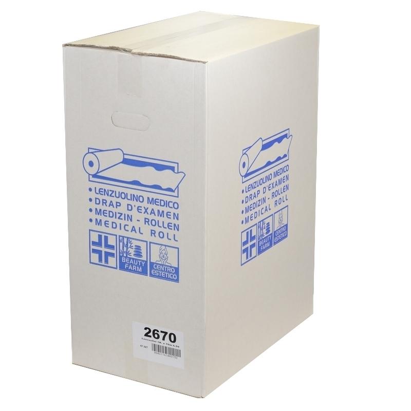 Draps d'examen Maxi Compact gaufrés - 211 formats 38 x 60 - Référence 2670 - Carton de 6 rouleaux