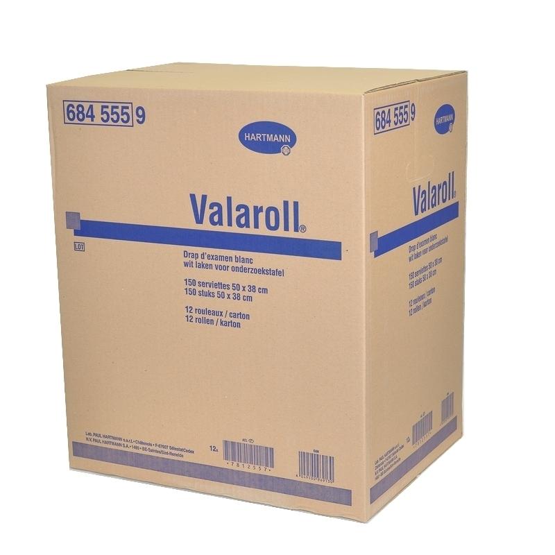 Draps d'examen classiques Draps d'examen Valaroll Hartmann - 150 formats 38 x 50 - Carton de 12 rouleaux