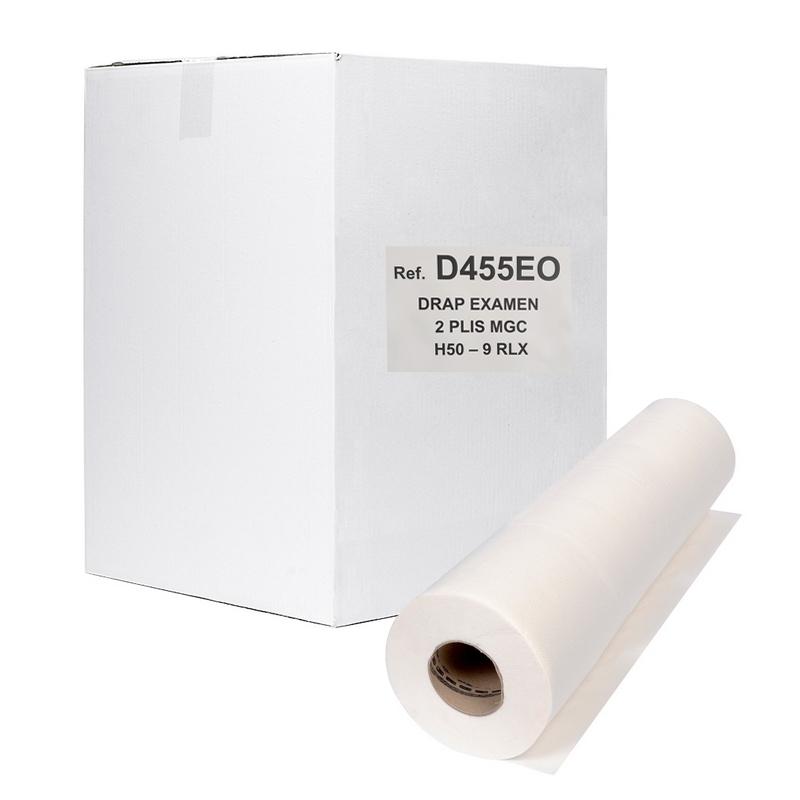 Draps d'examen classiques Draps d'examen gaufrés - 135 formats 34 x 50 - Vi&Di D455 - Carton de 9 rouleaux