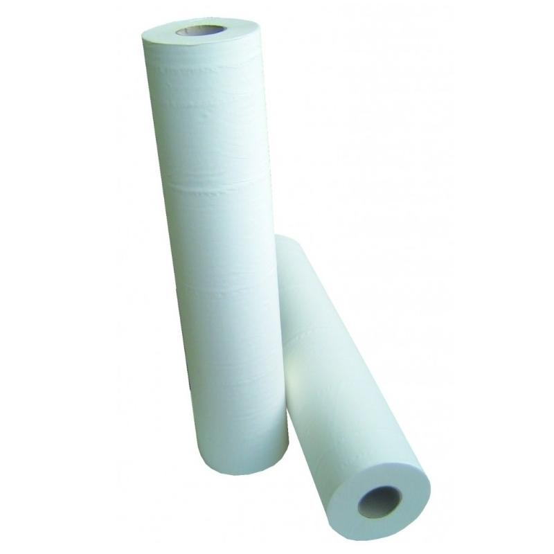 Draps d'examen formats spéciaux Draps d'examen lisses - 132 formats 60 x 38 - Global Hygiène J201 - Carton de 12 rouleaux