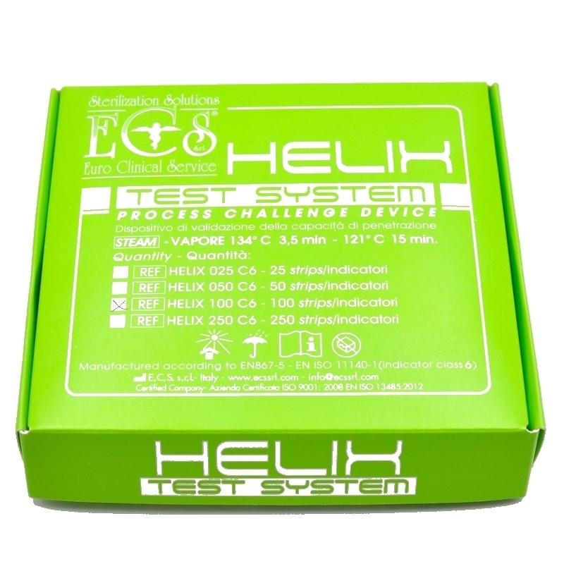 Test stérilisation Test de contrôle Helix - 1 dispositif et une boite de 100 tests