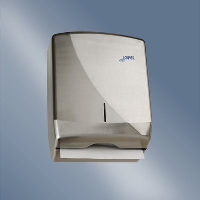 Distributeur papier Distributeur essuie mains Inox - Enchevêtré pliage en Z - 600 feuilles