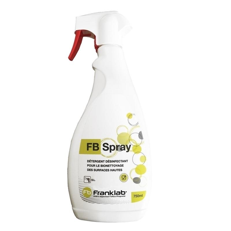 Sols et surfaces Détergent désinfectant FB Spray - Bionettoyage des surfaces - Flacon de 750 ml
