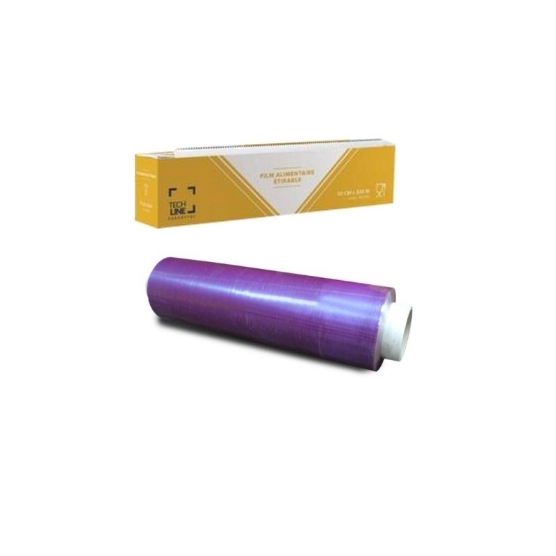 Film transparent ou film aluminium Film étirable transparent - Avec ou sans boite distributrice - 30 cm x 300 m - Unitaire