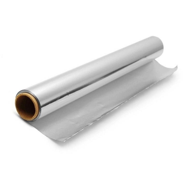 Film transparent ou film aluminium Rouleau aluminium - Avec boite distributrice - 44 cm x 200 m - Unitaire