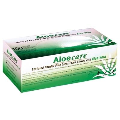 Gants latex sans poudre - Aloecare Aloé Vera - Boite de 100